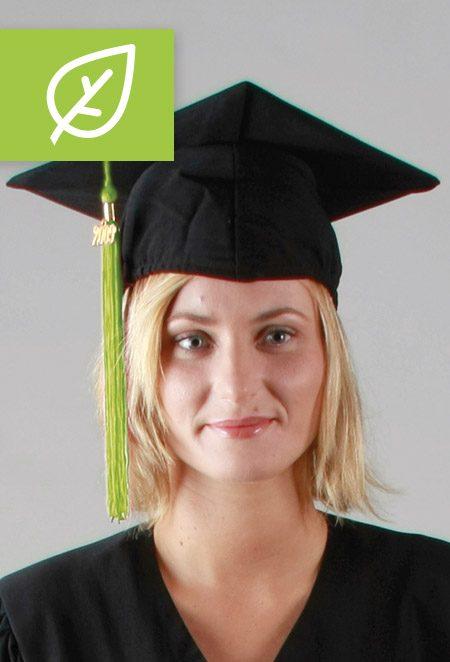 Coiffe recyclée, chapeau recyclé pour tenue de remise de diplôme