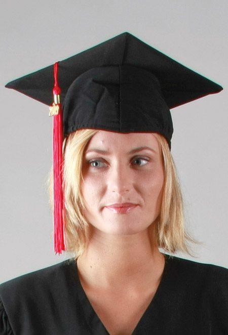 Coiffe standard pour remise de diplôme, chapeau pour tenue de diplômé