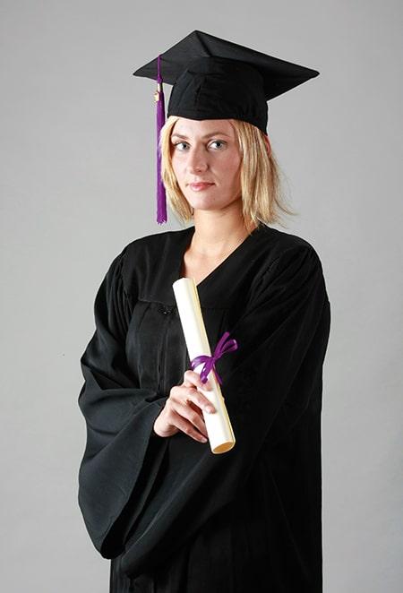 Toge mate pour cérémonie de remise de diplôme, tenue de diplômé